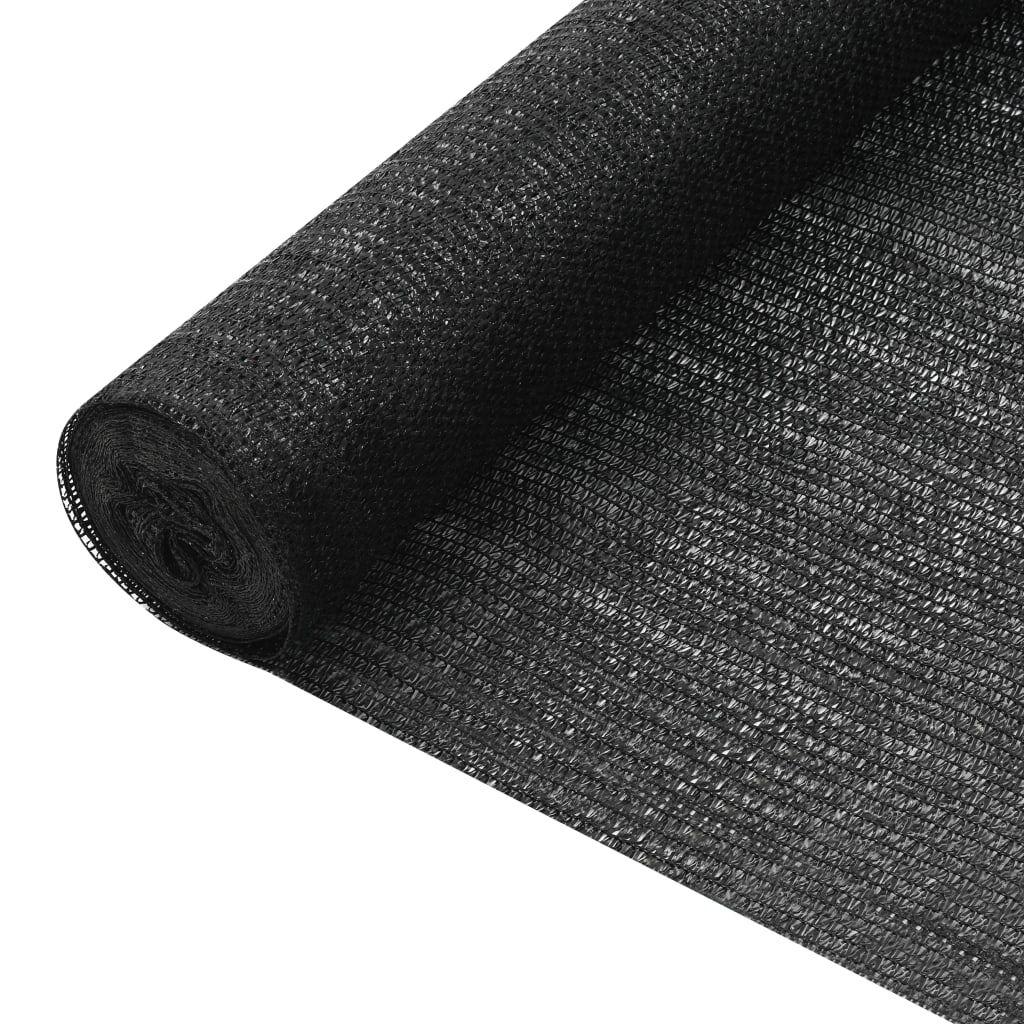 vidaXL Skjermnett svart 1,8x25 m HDPE 75 g/m²