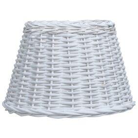 vidaXL Lampeskjerm flettekurv 40x26 cm hvit