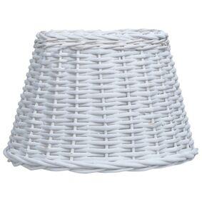 vidaXL Lampeskjerm flettekurv 45x28 cm hvit