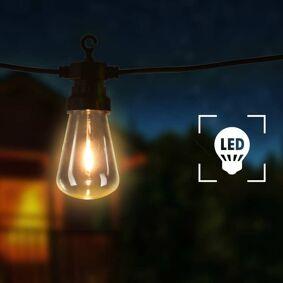 vidaXL Utendørs lysslynge 20 lyspærer oval juledekorasjon 23 m