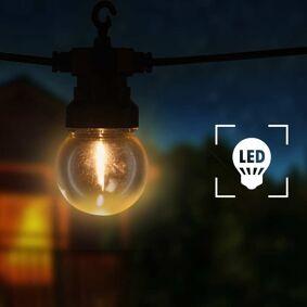 vidaXL Utendørs lysslynge 20 lyspærer rund juledekorasjon 23 m