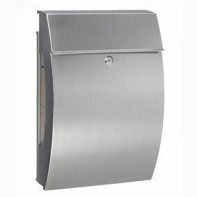 BURG-WÄCHTER Postkasse Hamburg 3815 Ni rustfritt stål sølv