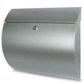 BURG-WÄCHTER Postkasse Toscana 3856 Ni rustfritt stål sølv