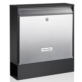 BURG-WÄCHTER Postkasse Oxford-Set 68770 B+S rustfritt stål sølv