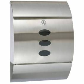 HI Postkasse rustfritt stål 30x12x40 cm