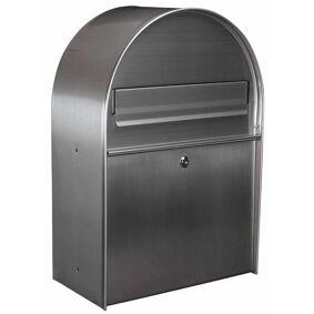 Toolland Postkasse York sølv rustfritt stål BG11002