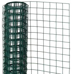 Nature Gjerdenetting firkantet 1x5 m 13 mm plastbelagt stål grønn