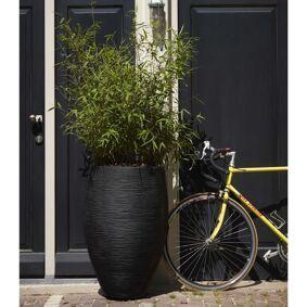 Capi Blomsterpotte Nature Rib elegant Deluxe 45x72 cm svart