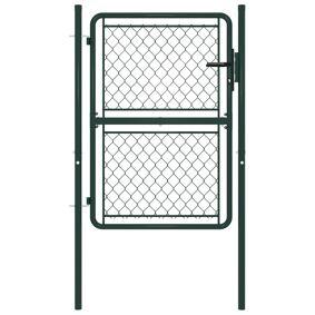 vidaXL Hageport stål 100x150 cm grønn