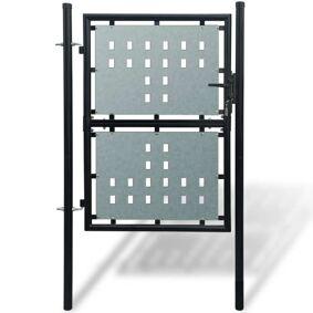 vidaXL Sort Enkel Dør Gateport 100 x 250 cm