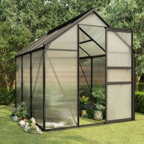 vidaXL Drivhus antrasitt aluminium 3,61 m²