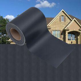 vidaXL Hageskjerm 4 stk PVC 35x0,19 m matt mørkegrå