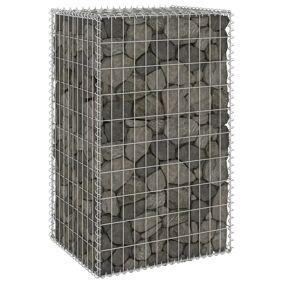 vidaXL Gabion med dekker galvanisert stål 60x50x100 cm