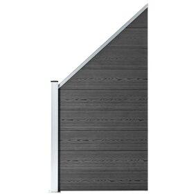 vidaXL Gjerdepanel WPC 95x(105-180) cm svart