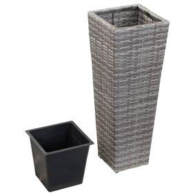 vidaXL Høybed 30x30x80 cm polyrotting grå
