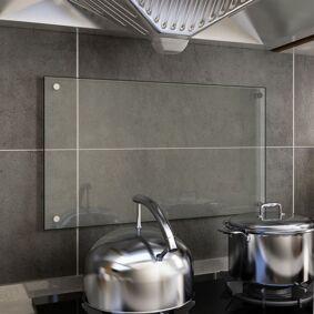 vidaXL Kjøkkenplate gjennomsiktig 70x40 cm herdet glass