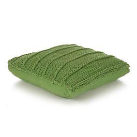 vidaXL Gulvpute kvadratisk strikket bomull 60x60 cm grønn