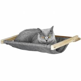 Kerbl Veggmontert hengekøye til katt Tofana 45x40 cm grå 81544