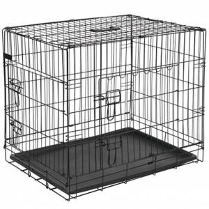 @Pet Hundebur metall 50,8x30,5x35,5 cm svart 15006