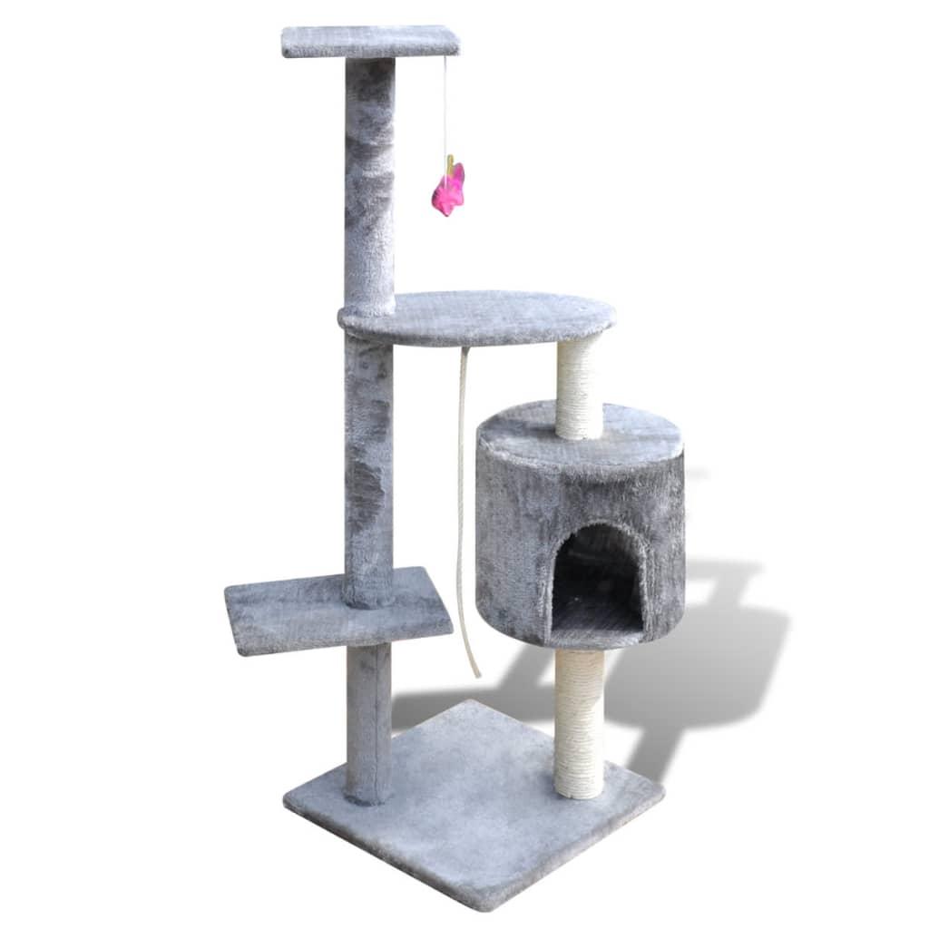 vidaXL Kloretre katt 114 cm 1 hus grå