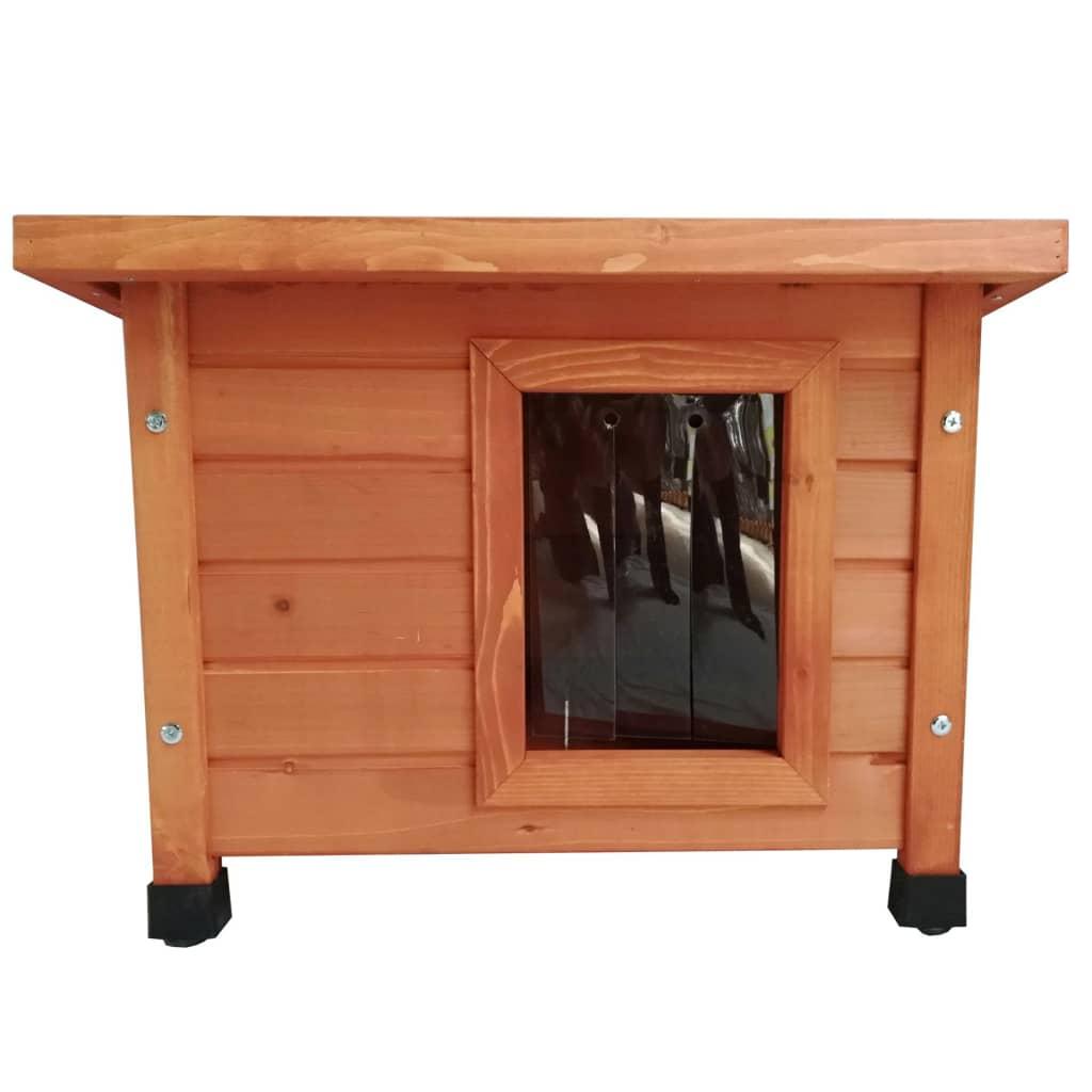 @Pet Utendørs kattehus tre brun