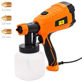 vidaXL Elektrisk malingssprayer med 3 dysestørrelser 500 W 800 ml