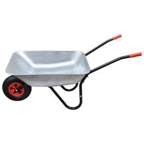 vidaXL Trillebår med 1 hjul, 80 L