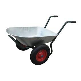 vidaXL Hageutstyr trillebår to hjul 66 L