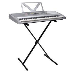 vidaXL Elektrisk keyboard med notestativ og justerbart stativ 61 tangenter
