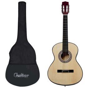 vidaXL Klassisk gitar for nybegynnere med veske 3/4 36