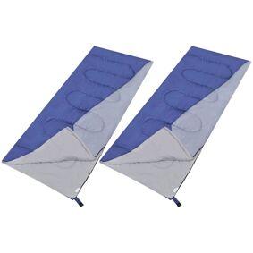 vidaXL Sett med 2 soveposer rektangulær lett