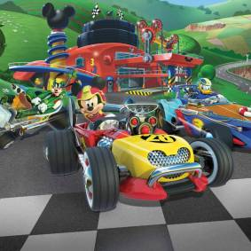 Walltastic Veggtapet Mickey Roadster 45293