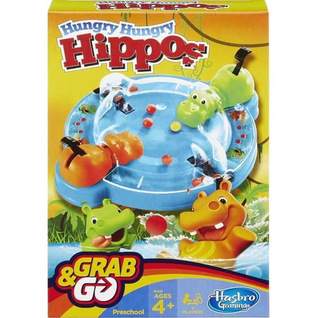 Hasbro Hungry Hungry Hippos Grab & Go, Reisespill