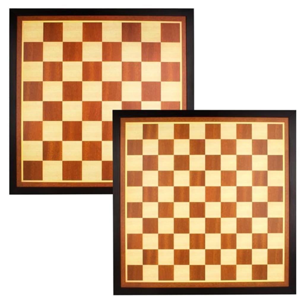 Abbey Game Dam-/sjakkbrett tre brun/ecru 49CG