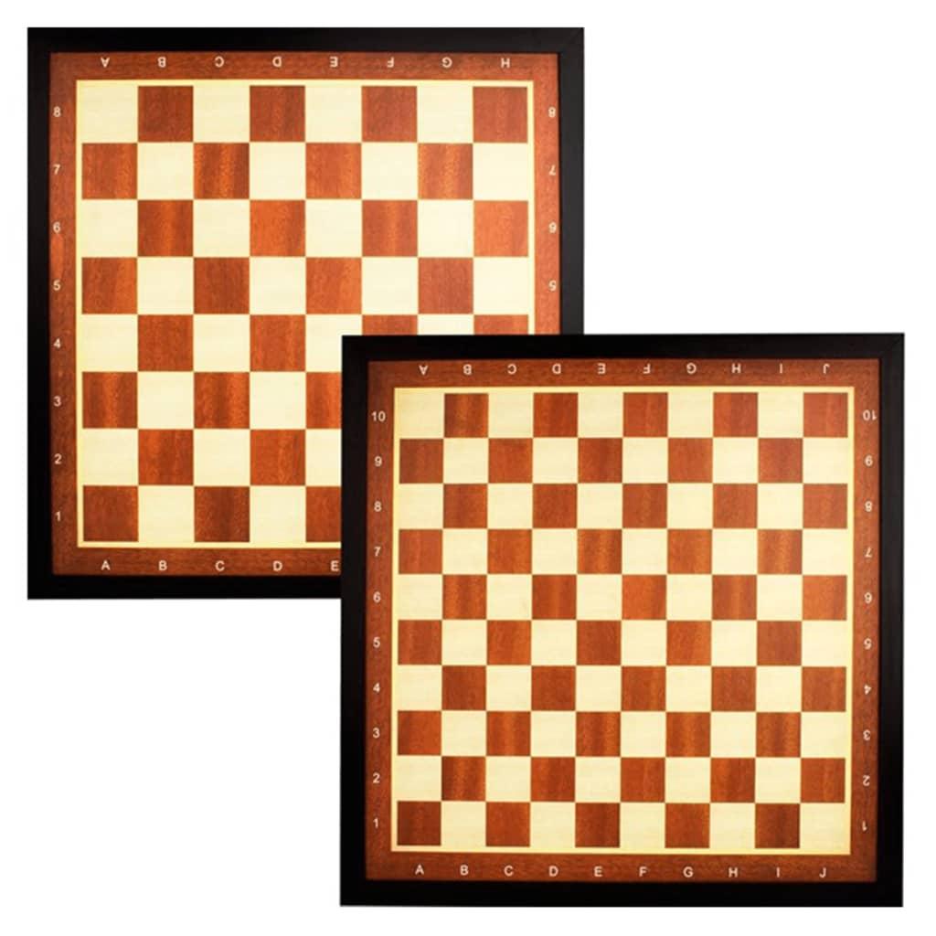 Abbey Game Sjakk- og dambrett med grense brun 49CD
