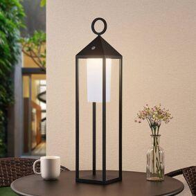 Lucande Mikuma LED-utelykt, 64 cm, svart