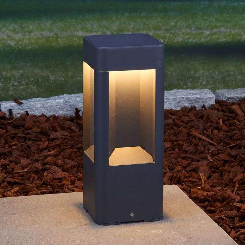 Lampenwelt.com LED-sokkellampe Annika av aluminium, 30 cm