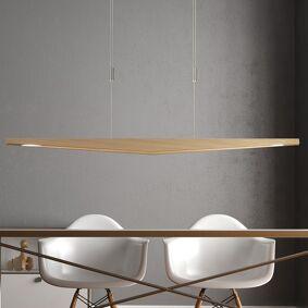 Lucande Dila LED-pendellampe, natureik 148 cm