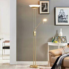 Lindby Dimmbar LED-uplight Yveta med leselys