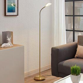 Lindby LED-leselampe Ajenne med fleksarm, messing