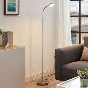 Lindby LED-leselampe Giacomo med fleksarm, nikkel