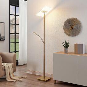 Lucande LED-uplight Joveline, messing