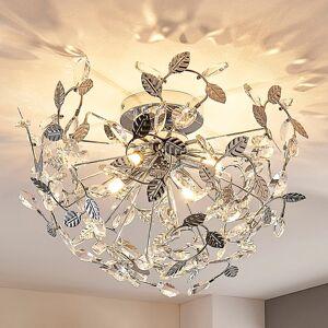 Lindby Bjarne - taklampe med krystaller og blader