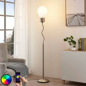 Lindby Smart RGB-LED-gulvlampe Mena