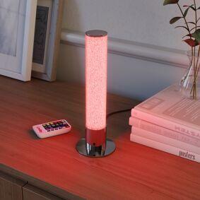 Lindby LED-bordlampe Fria, sylinder, RGB, fjernkontroll