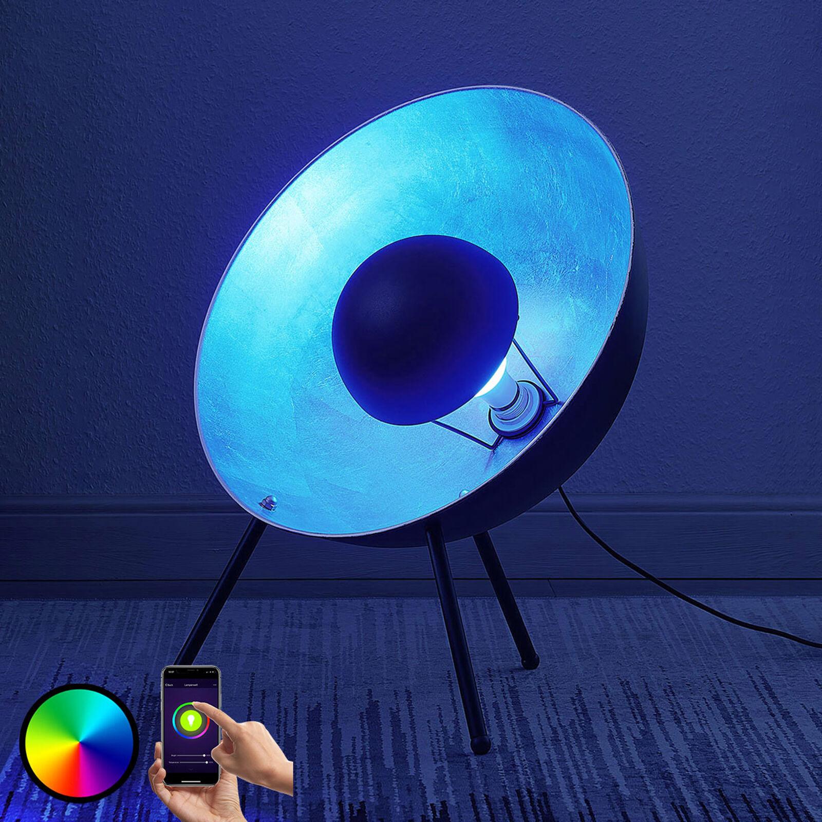 Lampenwelt.com Lindby Smart LED-bordlampe Muriel, 60cm sølv