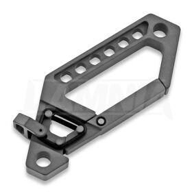 Titaner Advanced Keychain Carabiner, DLC, svart