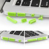 Apple MacBook Silikone Anti-Støv Propper - Grønn