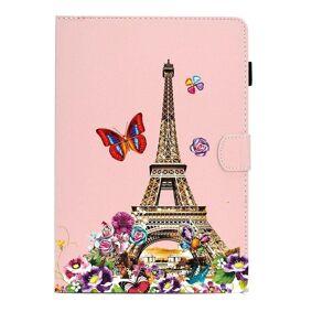 Apple Ipad Deksel Med Stativfunksjon & Kortholder - Eiffel Tower