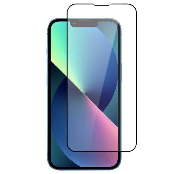 11298 Iphone 13 Pro Max 4smarts Second Glass X-Pro Full Cover Skjermbeskytter Med Monteringsramme - Case-Firendly - Svart Kant